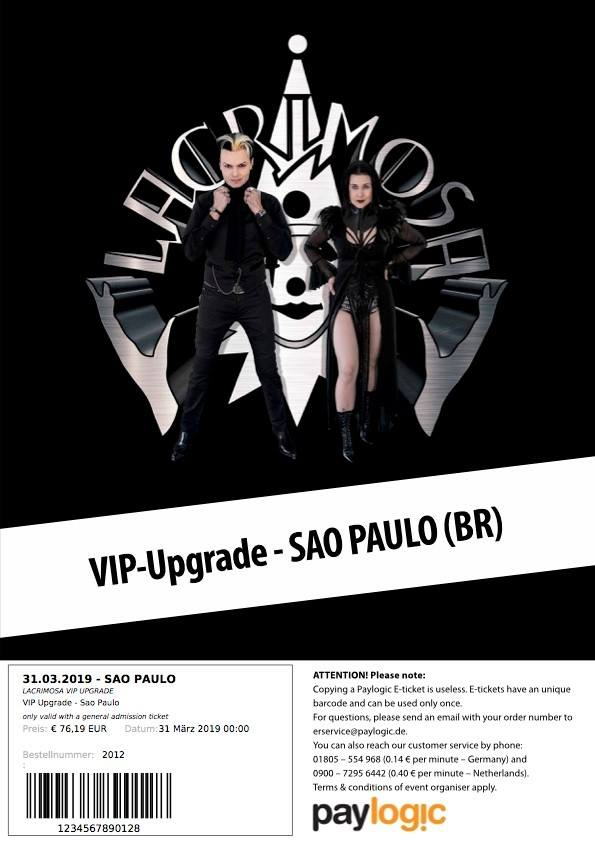 VIP Tickets | Lacrimosa - official page